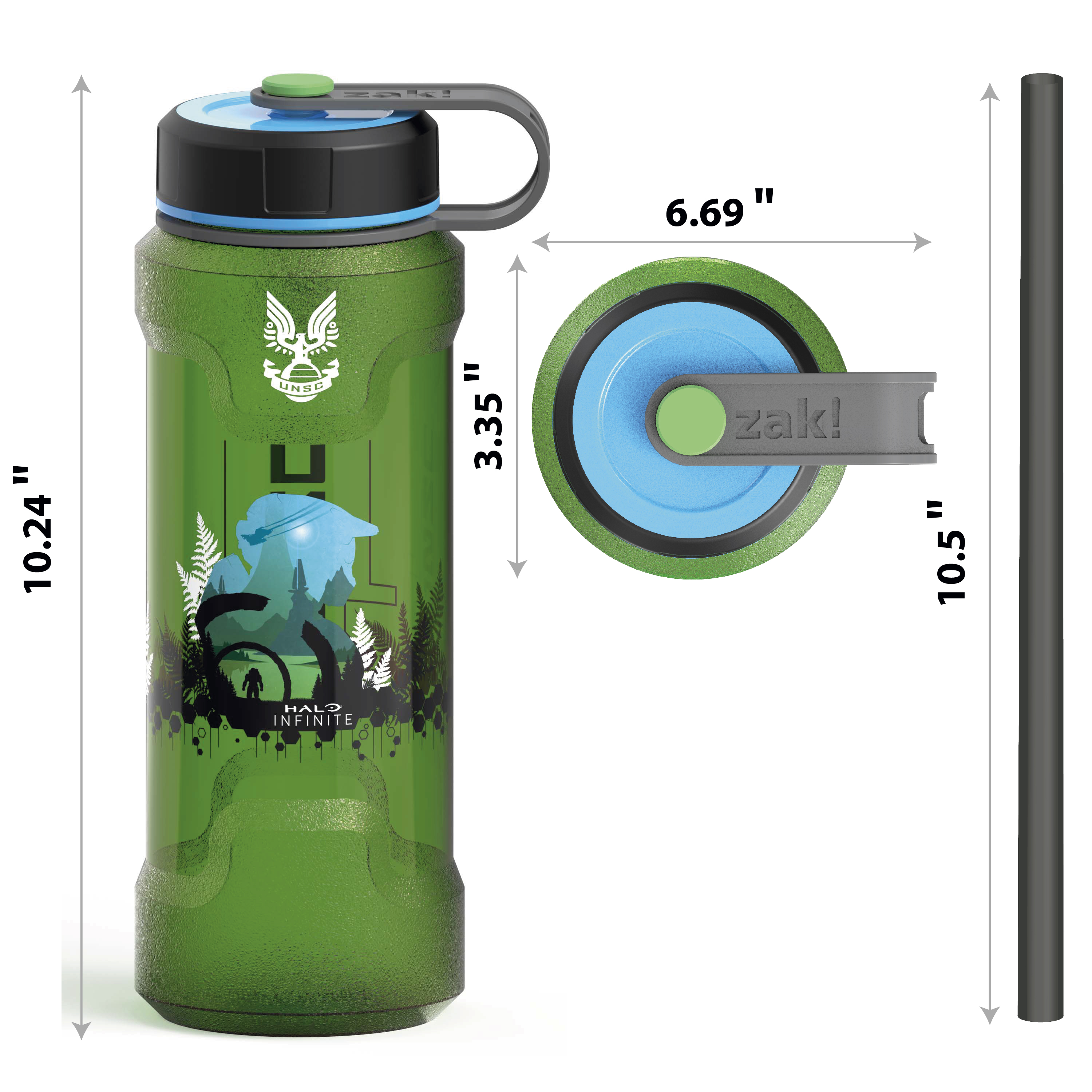 Halo 36 ounce Reusable Plastic Water Bottle, United Nations Space Command slideshow image 5