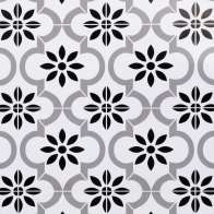 Swatch for EasyLiner® Adhesive Laminate -  Black and White Tile, 20 in. x 15 ft.