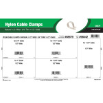 "Natural White Nylon Cable Clamps Assortment (1/2"" Wide for 3/4"" thru 1-1/2"" Cable)"