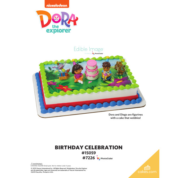 Dora the Explorer™ Birthday Celebration DecoSet® The Magic of Cakes® Page