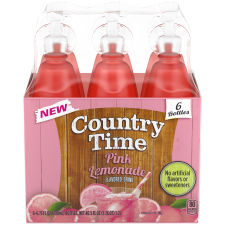 Country Time Pink Lemonade Flavored Drink, 6 - 6.75 fl oz Bottles