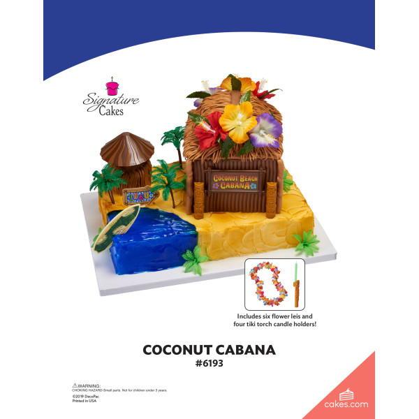 Coconut Beach Cabana Signature DecoSet® The Magic of Cakes® Page