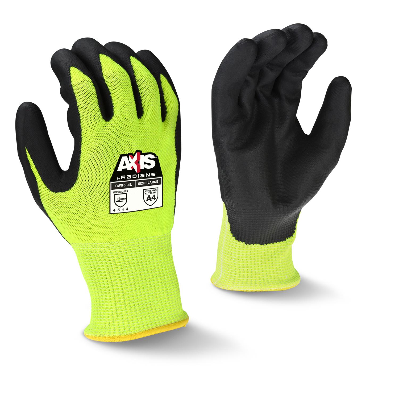 Axis Cut Glove, HPPE Hi-Vis Ylw Shell LG