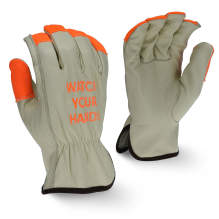 Radians RWG4221HV High Visibility Standard Grain Cowhide Leather Driver