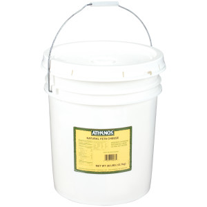 Athenos Traditional Feta Cheese Pail, 28 lb. image