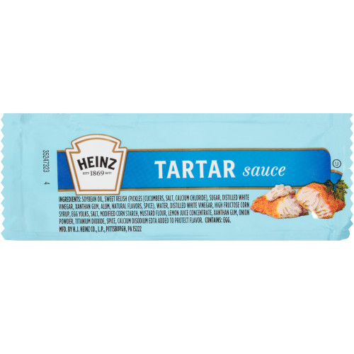 HEINZ Single Serve Tartar Sauce, 12 gr. Packets (Pack of 200)