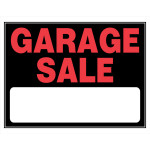 "Plastic Garage Sale Sign, 15"" x 19"""