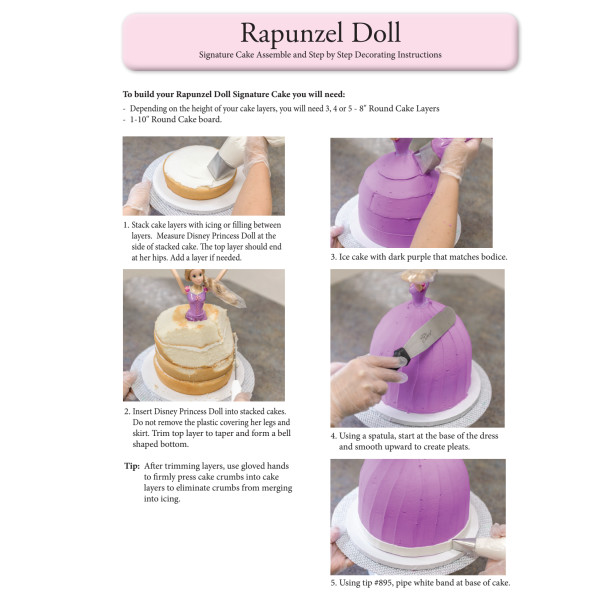 Disney Princess Rapunzel Signature Doll Instruction Sheet