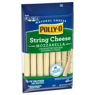Polly-O Low-Moisture Part-Skim Mozzarella String Cheese 48 counts