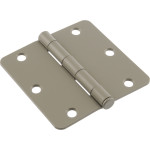 "Hardware Essentials 1/4"" Round Corner Primecoat Door Hinges (3-1/2"")"