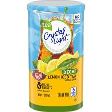 Crystal Light Decaffeinated Lemon Iced Tea Drink Mix 4 count Canister