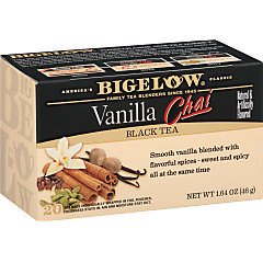Vanilla Chai Tea - Case of 6 boxes- total of 120 teabags
