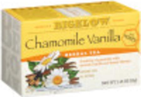 Chamomile Vanilla Honey Herbal Tea - Case of 6 boxes- total of 120 tea bags