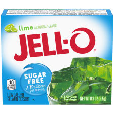 Jell-O Lime Sugar Free Gelatin Mix 0.3 oz Box