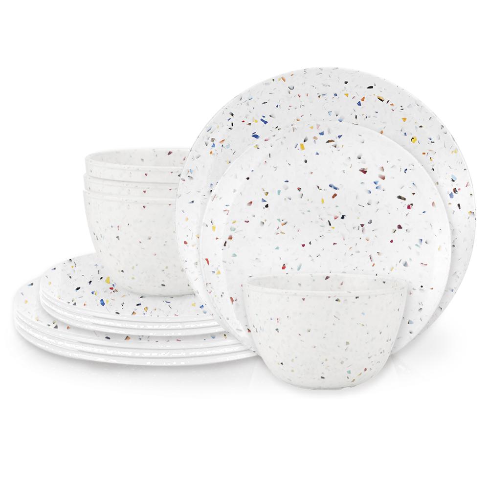 Confetti Dinnerware Set, White, 12-piece set slideshow image 2