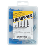 Homepak Plastic Anchors with Screws Kit