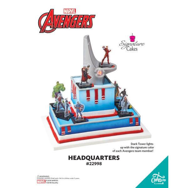 MARVEL Avengers Headquarters Signature DecoSet® The Magic of Cakes® Page