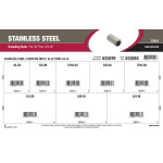 "Stainless Steel Coupling Nuts Assortment (#10-32 thru 3/4""-16)"
