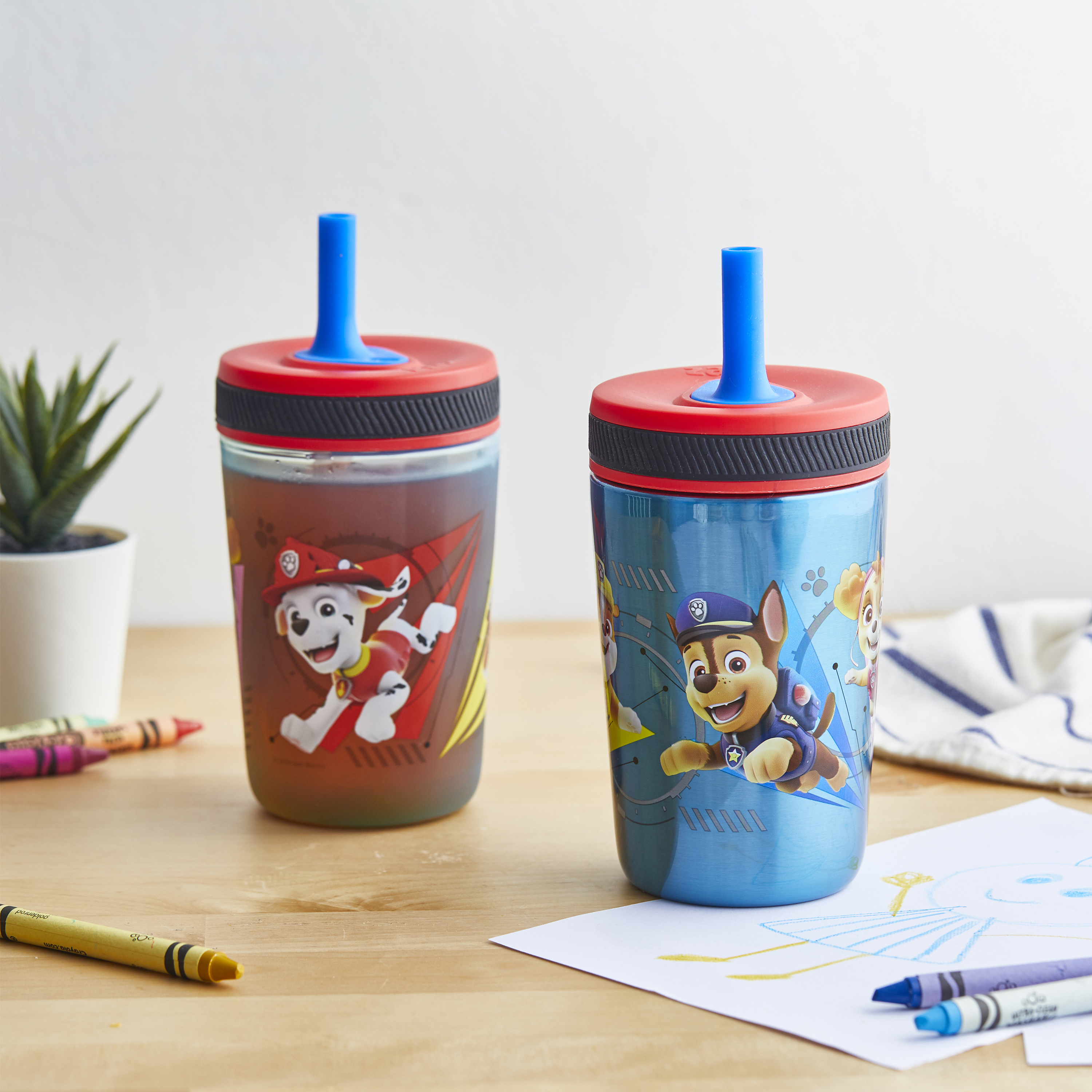 Paw Patrol 15  ounce Plastic Tumbler, Chase, Skye, Marshall and Friends, 3-piece set slideshow image 9