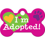 I'm Adopted Pink Small Bone Quick-Tag