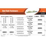 "Bed Rail Fasteners Assortment (4"" Thru 6"")"