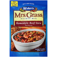 Wyler's Mrs. Grass Homestyle Beef Stew Hearty Mix 5.57 oz Pouch image