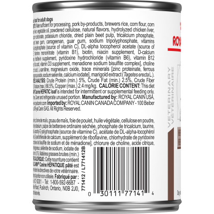 Royal Canin Veterinary Diet Canine Hepatic Canned Dog Food