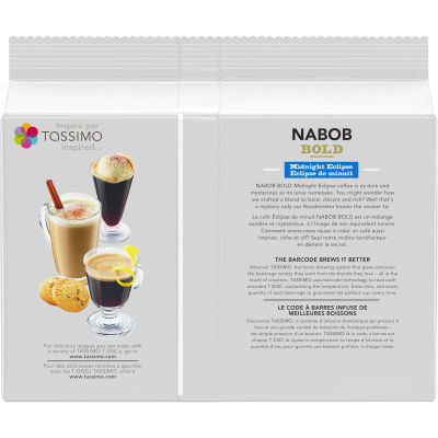 Tassimo Nabob Bold Midnight Eclipse Coffee Single Serve T-Discs
