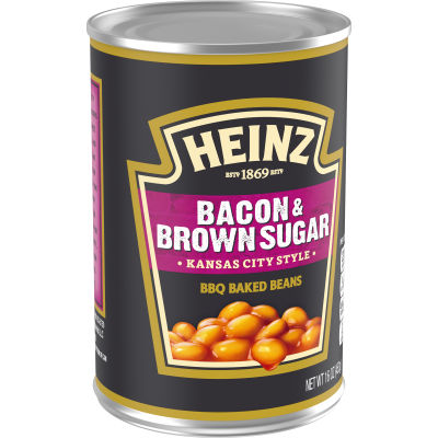 Heinz Kansas City Style Bacon & Brown Sugar BBQ Baked Beans 16 oz Can