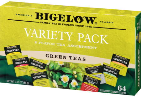 Left facing Green Tea Variety Gift Pack closed