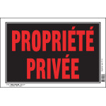 """French Private Property Sign Black and Red (8"""" x 12"""")"""