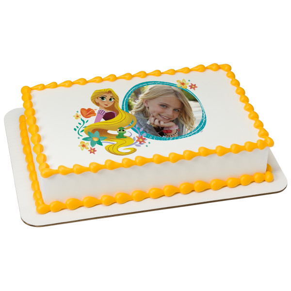 Rapunzel's Tangled Adventure Let Your Hair Down PhotoCake® Edible Image® Frame