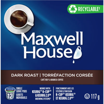 Maxwell House Dark Roast Coffee Keurig K-Cup Pods