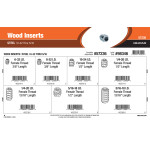 "Steel Wood Inserts Assortment (#6-32 thru 5/16""-18 Female Thread)"