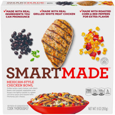 Smart Made Mexican Style Chicken Bowl 9 oz Carton