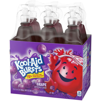 Kool-Aid Bursts Grape Ready-to-Drink Juice 6 - 6.75 fl oz Packs