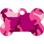 Pink Camo Small Bone Quick-Tag