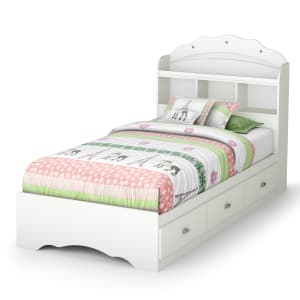 Tiara - Mates Bed With Bookcase Headboard Set