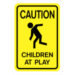 "Caution Children at Play Sign (18 x 12"")"
