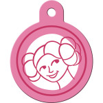 Star Wars Princess Leia Large Circle Quick-Tag