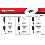 Pigtail Sockets Assortment (Miniature, Candelabra, Intermediate)