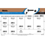 Class 10.9 Metric Flange Bolts & Nuts Assortment (M10-1.25 Thread)