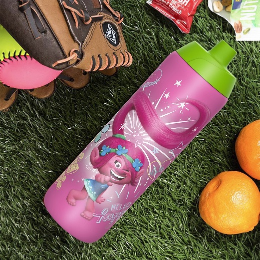 Trolls Movie Kid's Water Bottle and Sandwich Container Lunch Set, Poppy and Friends, 2-piece set slideshow image 7