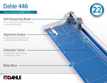 Dahle 446 Premium Rotary Trimmer InfoGraphic