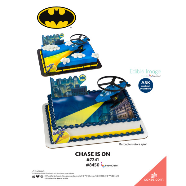 Batman™ Chase is On DecoSet® The Magic of Cakes® Page