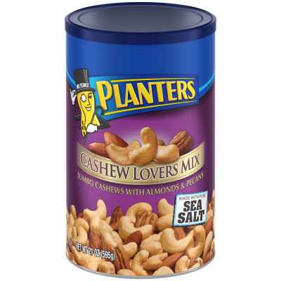 Planters Cashew Lovers Mix 21 oz Can