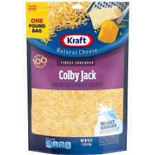 Kraft Colby Jack Finely Shredded Natural Cheese 16 oz Pouch