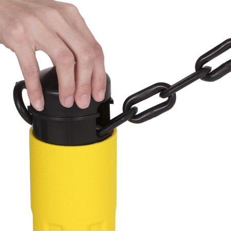 ChainBoss Stanchion - Yellow Empty with Black Chain 8