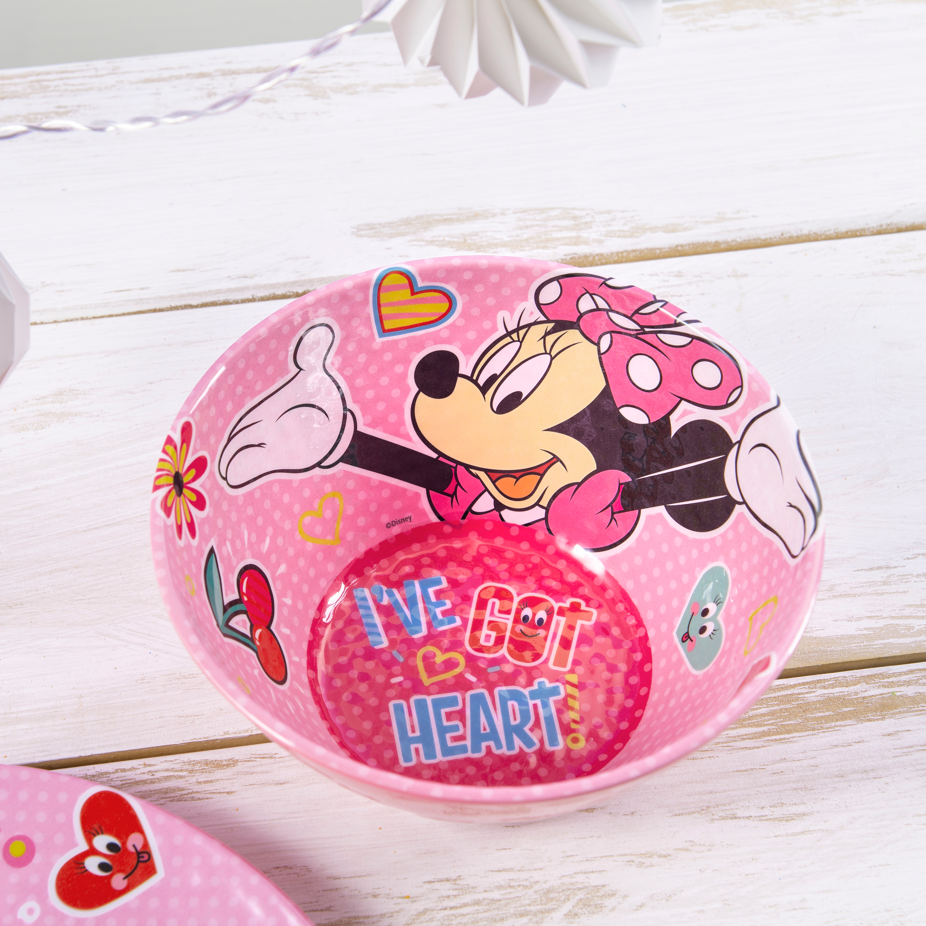Disney Kids 9-inch Plate and 6-inch Bowl Set, Minnie Mouse, 2-piece set slideshow image 7