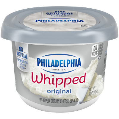 Philadelphia Plain Whipped Cream Cheese Spread 8 oz Tub